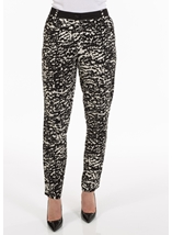 Monochrome Print Trousers