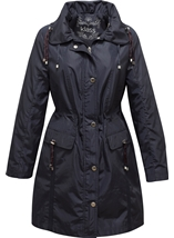 Navy Double Collar Coat