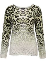 Faded Animal Print Jumper