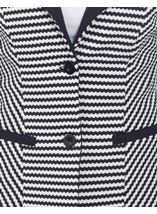 Monochrome Stripe Jacket