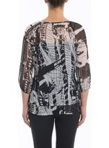 Monochrome Print Georgette Top