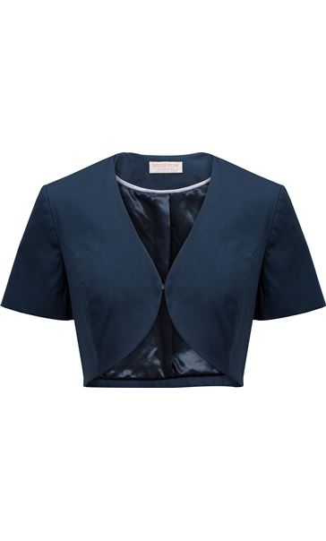 Anna Rose Navy Cropped Jacket