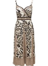Cotton Animal Print Dress