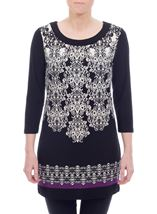 Baroque Border Print Tunic
