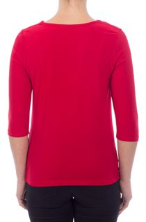Anna Rose Jersey Bead Top - Red
