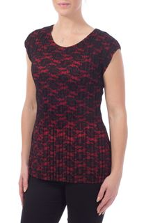 Lace Overlay Top - Multi