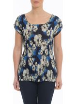 Floral Print Pleat Top