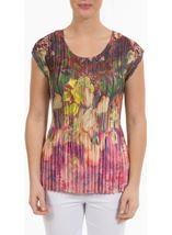 Plenty of Pleats Floral Top