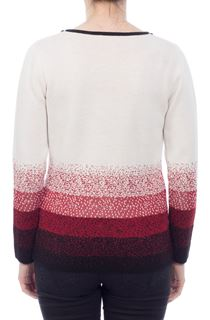 Anna Rose Sparkle Fall Top - Ivory/Red/Black
