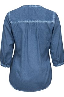 Washed Pintuck Top - Blue