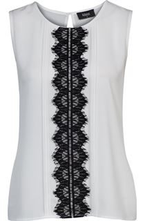 Lace Trim Top - Ivory