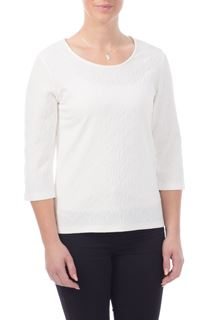 Textured Stretch Top - Ivory