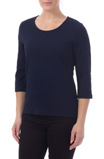 Textured Stretch Top - Blue