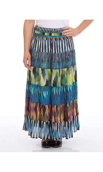 Abstract Crinkle Cotton Skirt