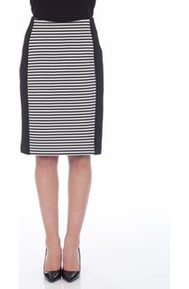 Monochrome Stripe Panel Skirt