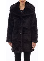 Wave Faux Fur Coat