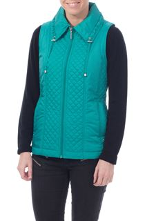 Anna Rose Diamond Stitch Gilet - Teal