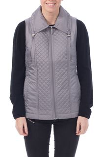Anna Rose Diamond Stitch Gilet - Silver