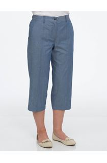 Anna Rose Cropped Trousers - Blue