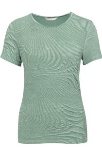 Anna Rose Textured Top - Sage Green