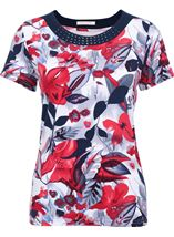 Anna Rose In Bloom Print Top