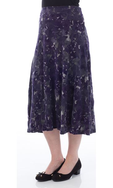 Flocked Floral Skirt