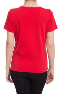 Anna Rose Embroidered T Shirt - Red