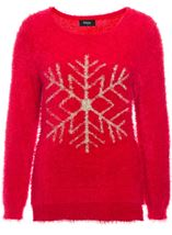 Fluffy Snowflake Centre Jumper
