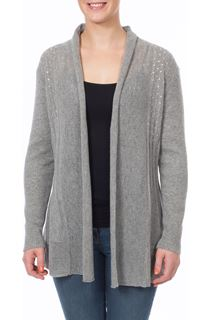Diamante Trim Open Cardigan