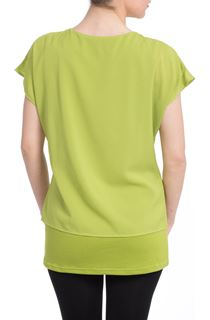 Layered Cut Out Top - Green