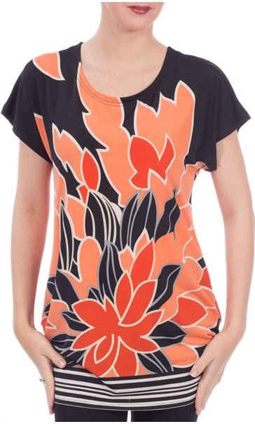 Ruched Floral Tunic