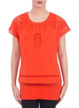 Layered Cut Out Top