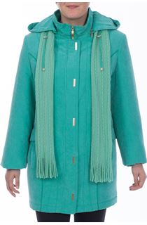 Anna Rose Casual Coat - Turquoise