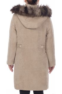 Anna Rose Suedette Parka - Hessian