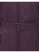 Berry Faux Leather Jacket