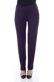 Slim Leg Trousers - Plum
