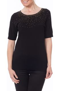 Embellished Knit Top