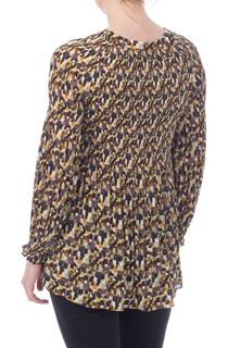 Abstract Print Pleat Top