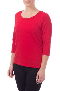 Textured Stretch Top - Red