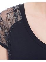 Shimmer Lace Sleeve Top