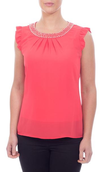 Beaded Chiffon Top