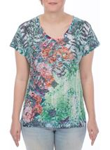 Tropical Garden Print Top