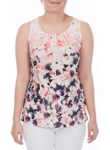 Floral Watercolour Print Top