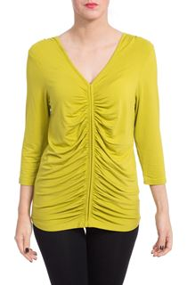 Ruched Front Top - Green
