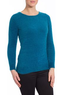 Feather Knit Top - Teal