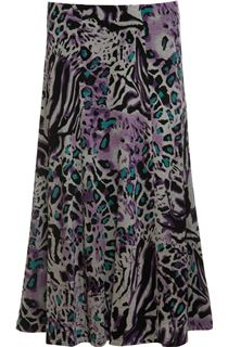 Anna Rose Animal Print Panel Skirt