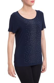 Anna Rose Sparkle Jersey Top - Blue