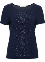 Anna Rose Sparkle Jersey Top