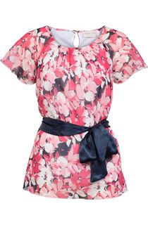 Anna Rose Floral Georgette Top