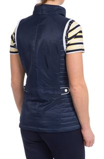 Anna Rose Nautical Gilet - Blue